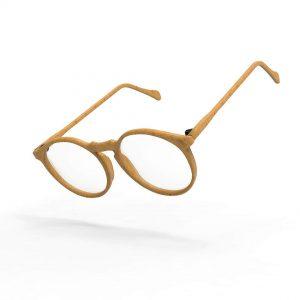 Monture de lunettes en bois